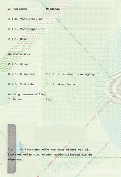 kentekenbewijs deel 1B